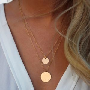 Jewelry - Adele ♡ Double Coin Necklace